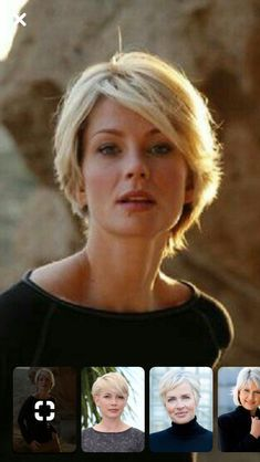 Monique Spronk - hair styles for short hair Monique Spronk Monique Spronk Short Hair With Layers, Short Hair Cuts For Women, Layered Hair, Short Hair Styles, Long Pixie Hairstyles, Short Hairstyles For Women, Short Blonde, Blonde Hair, Great Hair