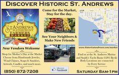 Andrews every Saturday beginning in May! New Market, Farmers Market, Bay County, St Andrews, Make New Friends, Panama City Panama, The St, Florida, Marketing