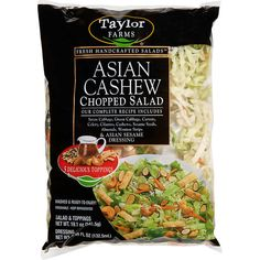 This Is the Single Best Salad Kit You Can Get at Costco Chinese Chicken Salad Dressing, Asian Chopped Salad, Wonton Strips, Non Perishable Foods, Salad Toppings, Salad Kits, Smart Snacks, Asian Slaw