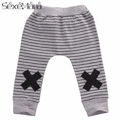 Kids Baby Boys Girls Long Pants Trousers Wide Leg Loose Sweatpants Harem Bottoms