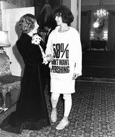 Katharine Hamnett & the original protest Tee  - 1983