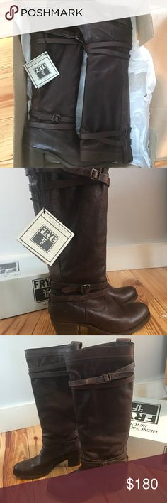 Frye Jane Strappy Women's Boots size 9, in great condition, worn only twice! Frye Shoes Heeled Boots