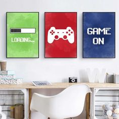 Video Game Wall Art Canvas Painting Gaming Room Decor Posters and Prints Abstract Party Artwork Picture for Boys Room Decoration Game Room Decor, Boys Room Decor, Room Wall Decor, Home Decor Wall Art, Boys Game Room, Video Game Bedroom, Video Game Rooms, Video Game Decor, Video Game Party