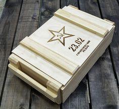 Подарочная упаковка ручной работы. Ярмарка Мастеров - ручная работа. Купить Ящик военный. Handmade. Бежевый, ящик для подарка