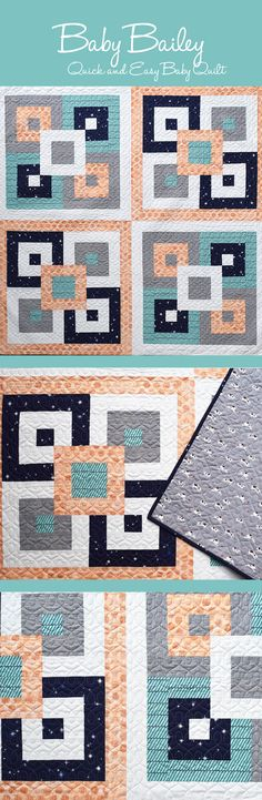 Baby Bailey Quilt Pattern from She Quilts A Lot