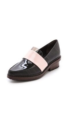 3.1 Phillip Lim Darwin Loafers are cool in SO many ways! Check out pink-streaked sides and the see-thru vamp...Wow!