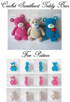 Crochet Sweethear Teddy Bear