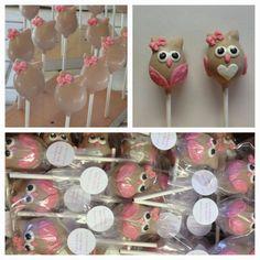 vypassetti cake pops - baby girl owls