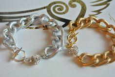 Mini Heart Chain Bracelet by linzgutz on Etsy, $25.00