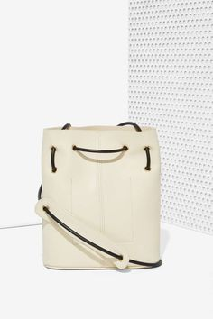 Paradigm Vegan Leather Bucket Bag - Bags + Backpacks | Back In Stock | Summer Whites