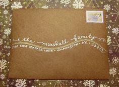 Decorative Ways to Address Envelopes | Calligraphy Writing Styles