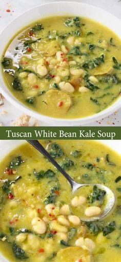 Kale Soup Recipes, Veggie Recipes, Whole Food Recipes, Vegetarian Recipes, Cooking Recipes, Healthy Recipes, Healthy Soups, Hamburger Recipes, Primal Recipes