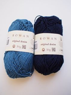 NEW ROWAN S/S 2014 YARN: Rowan Original Denim, available in 2 shades.  Wears and shrinks like denim, machine wash hot and it should fade and soften like your fave pair of jeans.