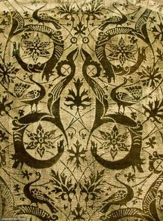 Dark gray velvet, pattern resist stencil in metallic silver, raspberry silk faille edging on cuffs & jacket perimeter, raspberry silk charmeuse lining, 2 labels:
