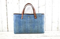 WEST AFRICAN INDIGO Tote Bag Purse Hand Dyed by 1770mercantile