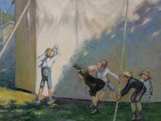 Children playing by Francisque Poulbot