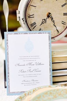 alice in wonderland tea party wedding inspiration invitation 275x412 Inspiration: Wonderland Tea Party