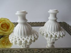 Vintage Westmoreland Milk Glass Lattice Edge by mymilkglassshop, $26.50