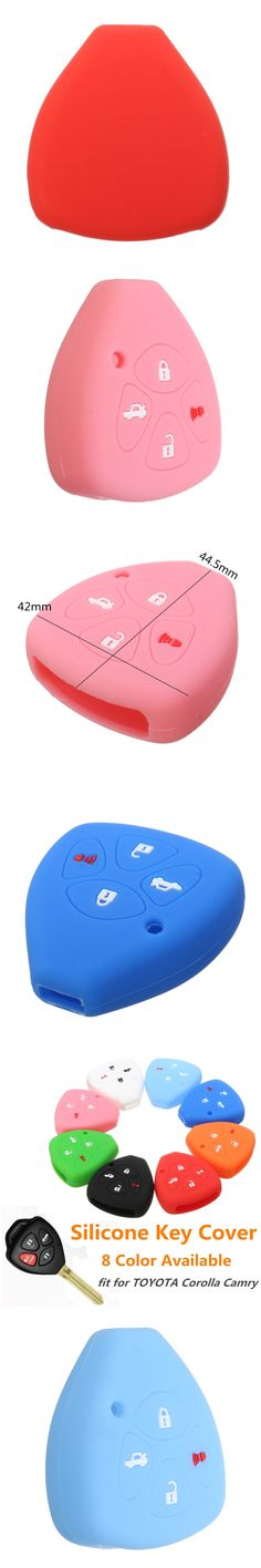 4 Button Silicone Keyless Remote Key Case Shell Cover For TOYOTA Corolla Camry