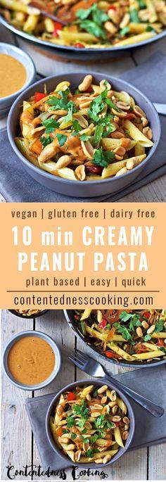 Creamy Peanut Pasta | #vegan #glutenfree #contentednesscooking