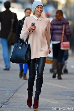 Jessica Hart out in New York City, New York - February 12, 2013