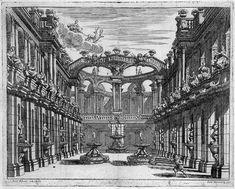Ferdinando Bibiena (1657 - 1743). Gli schizzi delle scenografie