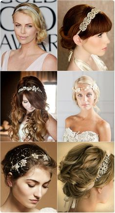 falttering and glamorous autumn hairstyle with headband