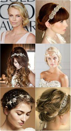 Opciones de peinado con diadema para boda