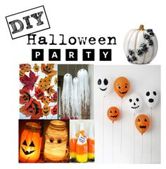 """DIY Halloween Party!!!"" by audreyelizabethblogs ❤ liked on Polyvore featuring interior, interiors, interior design, home, home decor, interior decorating, Improvements and Halloweenparty"