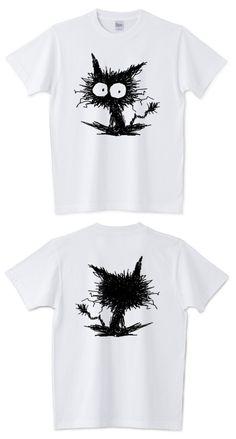 がびがびした黒い子猫のTシャツ (ΦωΦ) 販売中です~▶ http://www.ttrinity.jp/product/1907157 ◀  #Tシャツ #猫 #ネコ #黒猫 #子猫 #ttrinity