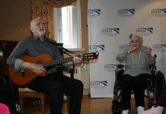 Actor Dominic Chianese (Sopranos, Boardwalk Empire) performs for senior residents at Stella Maris through his charity Joy Through Art (Photo courtesy Stella Maris Inc. Dominic Chianese, Famous Catholics, Boardwalk Empire, Famous People, Photo Art, Charity, Joy, Actors, Glee