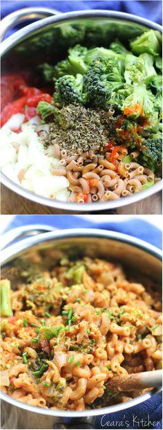 "U had me at ""one pot""--Vegan and Healthy One Pot Cheesy Tomato Pasta"