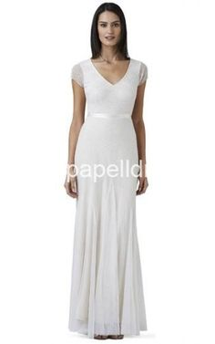 Adrianna Papell Long Beaded Dress IvoryOutlet
