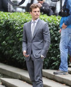 Pin for Later: The Fifty Shades of Grey Reshoots Now Include Sexy Makeouts  Maybe he just wasn't sexy enough the first time.