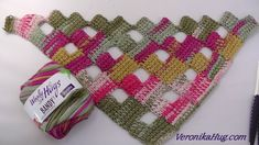crochet easy & lovely stitch- by Oana Crochet Scarves, Crochet Shawl, Crochet Yarn, Free Crochet, Tunisian Crochet Patterns, Afghan Stitch, Crochet Videos, Crochet Projects, Knitting
