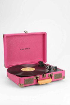 Crosley Cruiser Turntable UK Plug in Pink - Urban Outfitters