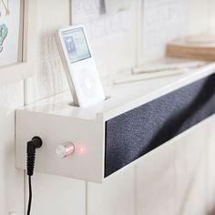 I love the Megasound Speaker Ledge on pbteen.com