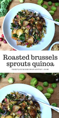 Got loads of brussels sprouts left after the holidays? Want to use them up in a healthy meal, packed with more veggies and flavour? This is the perfect dish. Vegetarian, Vegan, Dairy Free, IQS Friendly and Gluten Free recipe.