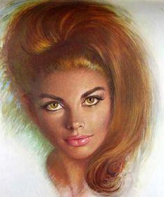 Lou Shabner pin-up girls Vintage Prints, Vintage Art, Vintage Ladies, Vintage Gypsy, Kitsch Art, Gypsy Girls, Mid Century Art, Pulp Art, Pin Up Art