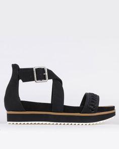 Black Sandals, Two By Two, Tees, Fashion, Black Flat Sandals, Moda, T Shirts, Tee Shirts, Fashion Styles