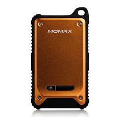 MOMAX (Orange) Dual USB Tough & Waterproof Power Bank til Smartphones