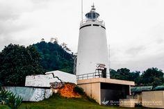 /West Sumatra. South of Padang. Lighthouse marking the route to Teluk Bayur, Padang port.