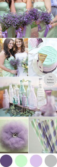 Wedding Colors | Lavender + Mint http://www.theperfectpalette.com/2013/09/wedding-colors-lavender-mint.html
