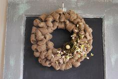Burlap Wreath Tutorial | A Gathering Place
