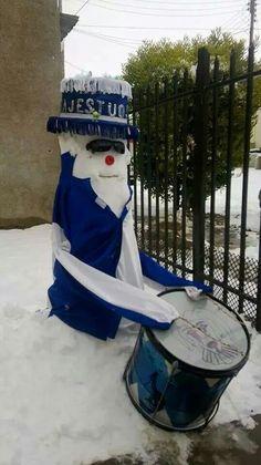 Muñeco murguero de nieve puerto deseado