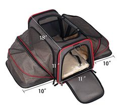 Expandable Pet Carrier Airline Approved Designed for Cats Dogs Kittens Puppies  Extra Spacious With 2 Side Expansion Comfortable Soft Sided Travel Carrier  100 Satisfaction Guaranteed -- Click image for more details.