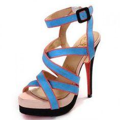 aa73420babb Christian Louboutin Straratata 140 Blue Suede Sandals