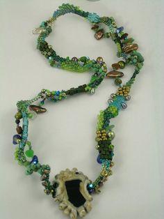 #beadwork #freeform  Lac LaBelle  Bead Woven Free Form Peyote Stitch by 4uidzne on Etsy,