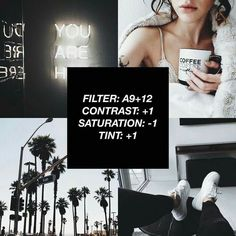 Most Popular Vsco Filter White Instagram Theme, Instagram Themes Vsco, Black And White Instagram, Feeds Instagram, White Feed Instagram, Instagram Editor, Vsco Feed, Photography Filters, Photography Editing