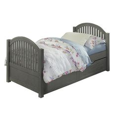 Hillsdale Furniture Lake House Adrian Twin Bed with Trundle and Rails - Tan